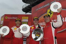Trofeo Pirelli Ferrari North America Challenge race 1 podium