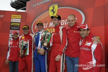 Finale Mondiale Coppa Shell podium with Marc Gene, Toni Vilander and Giancarlo Fisichella