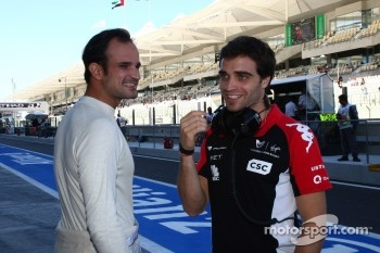 Vitantonio Liuzzi, HRT F1 Team and Jerome d'Ambrosio, Marussia Virgin Racing