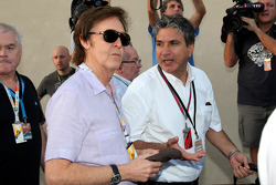 Paul McCartney arrives at the circuit