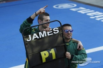Lotus ART celebrate James Calado's win