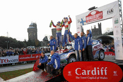 Podium: winners Jari-Matti Latvala and Miikka Anttila, Ford Fiesta RS WRC, BP Ford Abu Dhabi World Rally Team