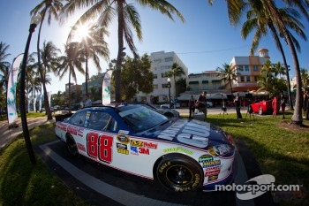 NASCAR Championship Drive in South Beach: car of Dale Earnhardt Jr., Hendrick Motorsports Chevrolet on display