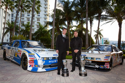 Carl Edwards, Roush-Fenway Ford and NASCAR Nationwide Series champion driver Ricky Stenhouse Jr., Roush-Fenway Ford