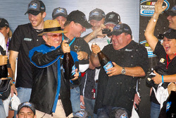 Championship podium: Jack Roush celebrates