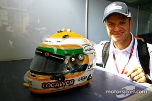 "Rubens Barrichello with ""saudades"" (something like ""nostalgia"" in Portuguese language)."
