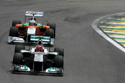 Michael Schumacher, Mercedes GP and Adrian Sutil, Force India