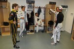 Romain Grosjean, Sébastien Ogier, Andy Priaulx, Jenson Button and Michael Schumacher