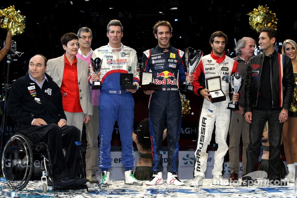 Winner Jean-Eric Vergne, second place Jérôme d'Ambrosio, third place Julien Jousse