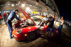 Pit stop for #45 Race & Event Porsche GT3 RS: Johannes Kirchhoff, Wolfgang Kemper, Gustav Edelhoff, Elmar Grimm