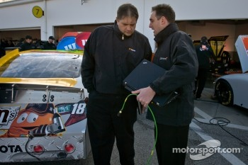 NASCAR technician and McLaren Electronic technician