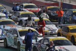 Competitors leave parc ferme