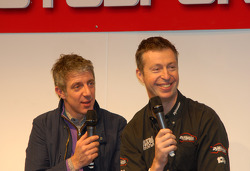 Jason Plato and Matt Neal on the Autosport Stage
