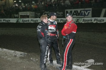 Brad Sweet, Bryan Clauson and Ricky Stenhouse, Jr.