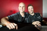Marino Franchitti and James Hinchcliffe