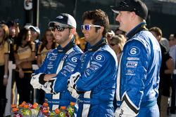 DP victory lane: third place Jorge Goncalvez, Gustavo Yacaman and Michael McDowell
