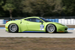 #57 Krohn Racing Ferrari F458 GT: Tracy Krohn, Niclas Jonsson, Michele Rugolo
