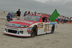 Trevor Bayne drives on the original Daytona Beach