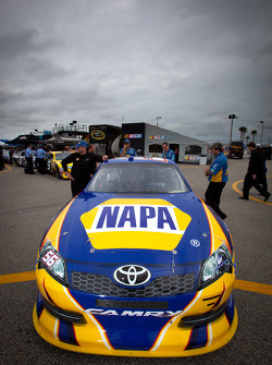 Car of Martin Truex Jr., Michael Waltrip Racing Toyota at technical inspection