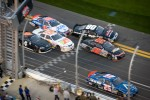 Crash at the checkered flag