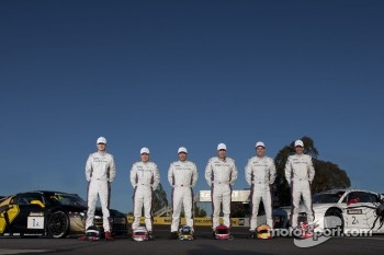 Team Phoenix Racing team photoshoot: Mark Eddy, Christer Jöns, Craig Lowndes, Warren Luff, Christopher Mies, Darryl O'Young