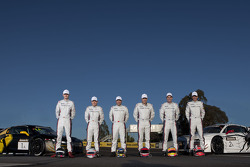 Team Phoenix Racing team photoshoot: Mark Eddy, Christer Jöns, Craig Lowndes, Warren Luff, Christopher Mies, Darryl O'Young