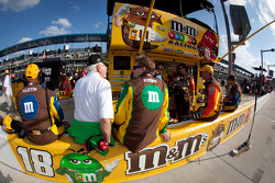 Joe Gibbs Racing pit area
