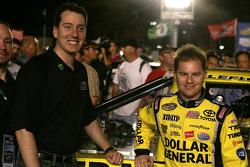 Kyle Busch with Jason Leffler, Kyle Busch Motorsports Toyota