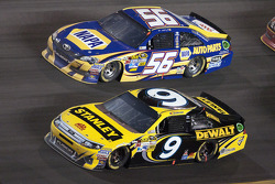 Martin Truex Jr., Michael Waltrip Racing Toyota and Marcos Ambrose, Richard Petty Motorsports Ford