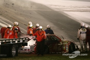Crashed car of Juan Pablo Montoya, Earnhardt Ganassi Racing Chevrolet
