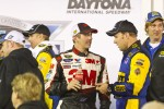 Victory lane: race winner Matt Kenseth, Roush Fenway Racing Ford celebrates with Greg Biffle, Roush Fenway Racing Ford