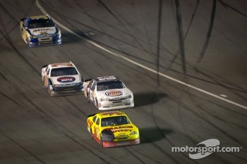 Dave Blaney, Tommy Baldwin Racing Chevrolet, Landon Cassill, BK Racing Toyota and Tony Raines, Front Row Motorsports Ford head back to race