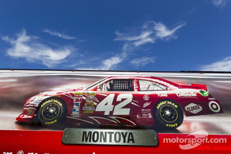The hauler of Juan Pablo Montoya, Earnhardt Ganassi Racing Chevrolet