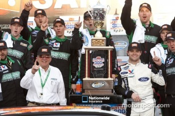 Victory lane: race winner Ricky Stenhouse, Jr.