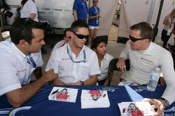 Benoit Tréluyer, Andre Lotterer and Marcel Fassler