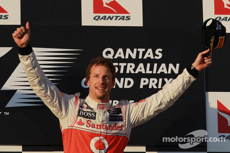 1st place Jenson Button, McLaren Mercedes