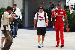Fernando Alonso, Ferrari in the paddock