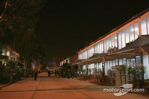 The paddock at night