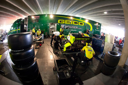 KV Racing Technology paddock area