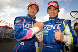 GT 500 pole winners Yuji Tachikawa and Kohei Hirate