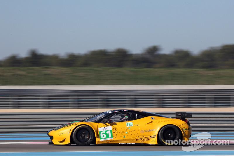 #61 Kessel Racing Ferrari 458 Italia: Michael Broniszewski, Philipp Peter
