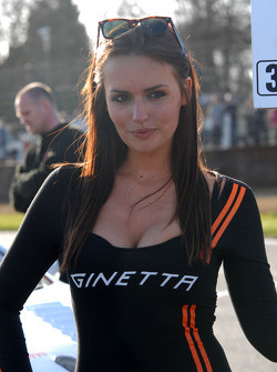 Speedworks Grid Girl to Adam Morgan
