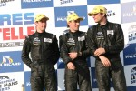 P2 podium: third place Yelmer Buurman, Alexander Sims, Dean Stirling