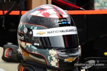 Helmet of J.R. Hildebrand, Panther Racing Chevrolet