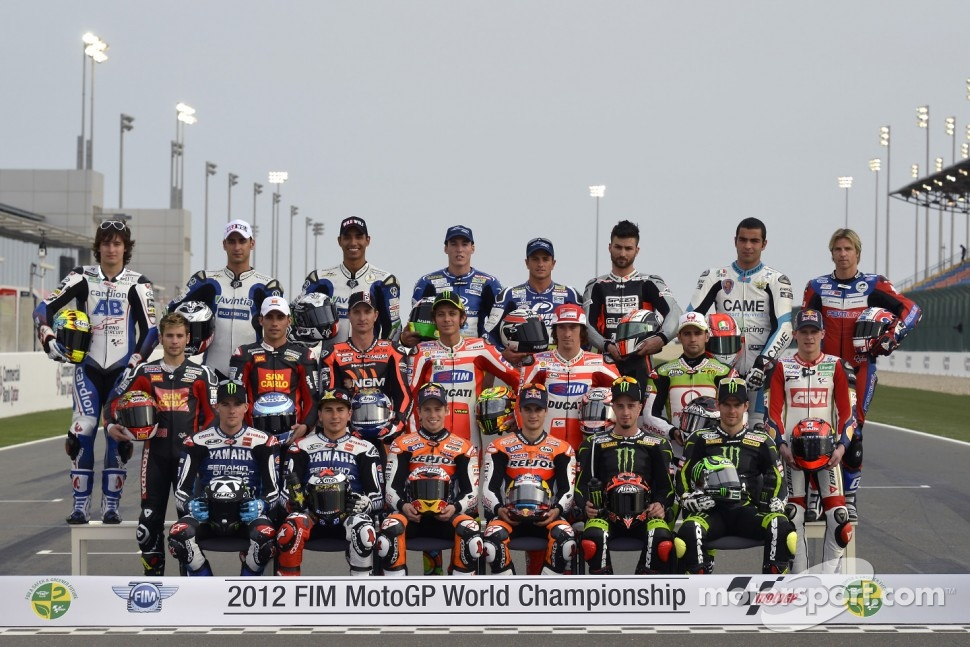 MotoGP riders group shot