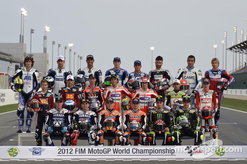 MotoGP riders group shot