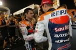Second place Dani Pedrosa, Repsol Honda Team, third place Casey Stoner, Repsol Honda Team