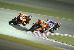 Dani Pedrosa, Repsol Honda Team, Casey Stoner, Repsol Honda Team, Jorge Lorenzo, Yamaha Factory Racing