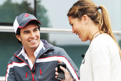 Sergio Perez, Sauber F1 Team with Nira Juanco, Antena 3 TV Presenter