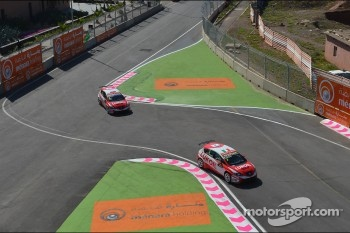 Gabriele Tarquini, SEAT Leon WTCC, Lukoil Racing Team and Alexey Dudukalo, SEAT Leon WTCC, Lukoil Racing Team